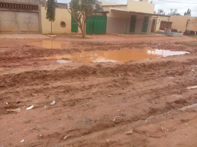 Les riverains sont confrontés à des risques sanitaires et des inondations avec ces marres d'eaux stagnantes- Crédit Photo Amos Traoré